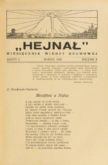 Hejnał nad Morzem Życia ze Szczytów Prawd Ducha i Praw Człowieka. R. 10, Z. 3 (1938)