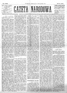 Gazeta Narodowa. R. 13 (1874), nr 233 (13 października)