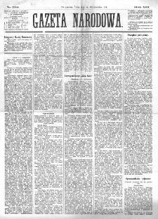 Gazeta Narodowa. R. 13 (1874), nr 234 (14 października)