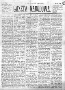 Gazeta Narodowa. R. 13 (1874), nr 237 (17 października)