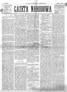 Gazeta Narodowa. R. 13 (1874), nr 239 (20 października)