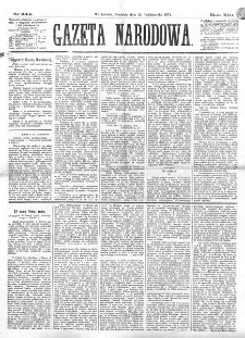Gazeta Narodowa. R. 13 (1874), nr 244 (25 października)