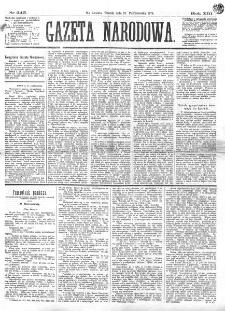 Gazeta Narodowa. R. 13 (1874), nr 245 (27 października)