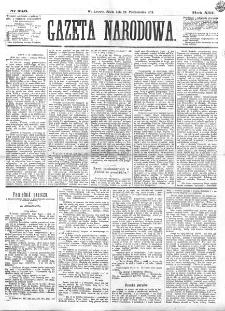Gazeta Narodowa. R. 13 (1874), nr 246 (28 października)