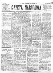 Gazeta Narodowa. R. 13 (1874), nr 247 (29 października)