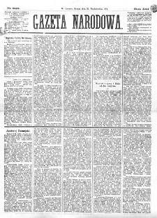 Gazeta Narodowa. R. 13 (1874), nr 249 (31 października)