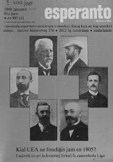 Esperanto : revuo internacia : oficiala organo de Universala Esperanto Asocio. Jaro 81, n. 985 (1988)