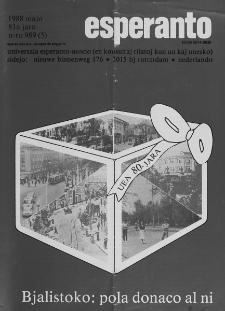 Esperanto : revuo internacia : oficiala organo de Universala Esperanto Asocio. Jaro 81, n. 989 (1988)