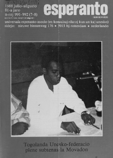 Esperanto : revuo internacia : oficiala organo de Universala Esperanto Asocio. Jaro 81, n. 991/992 (1988)