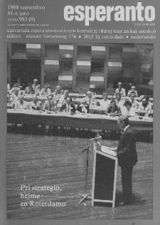 Esperanto : revuo internacia : oficiala organo de Universala Esperanto Asocio. Jaro 81, n. 993 (1988)