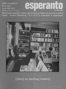 Esperanto : revuo internacia : oficiala organo de Universala Esperanto Asocio. Jaro 81, n. 995 (1988)