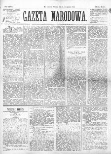 Gazeta Narodowa. R. 13 (1874), nr 251 (3 listopada)