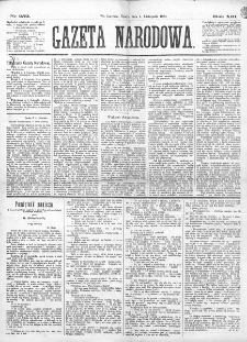 Gazeta Narodowa. R. 13 (1874), nr 252 (4 listopada)