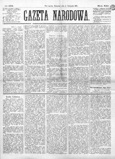 Gazeta Narodowa. R. 13 (1874), nr 253 (5 listopada)