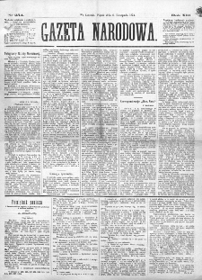 Gazeta Narodowa. R. 13 (1874), nr 254 (6 listopada)