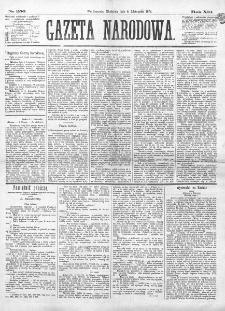 Gazeta Narodowa. R. 13 (1874), nr 256 (8 listopada)
