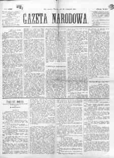 Gazeta Narodowa. R. 13 (1874), nr 257 (10 listopada)