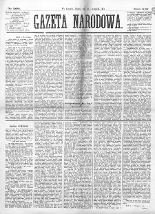Gazeta Narodowa. R. 13 (1874), nr 260 (13 listopada)