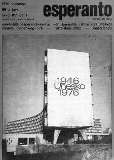 Esperanto : revuo internacia : oficiala organo de Universala Esperanto Asocio. Jaro 69, n. 851 (1976)