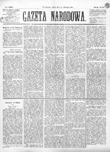 Gazeta Narodowa. R. 13 (1874)., nr 261 (14 listopada)