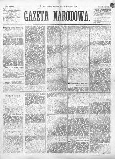 Gazeta Narodowa. R. 13 (1874), nr 262 (15 listopada)