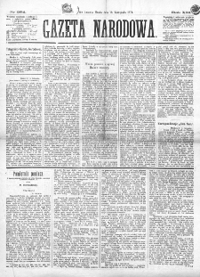 Gazeta Narodowa. R. 13 (1874), nr 264 (18 listopada)
