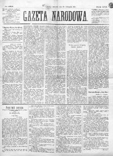 Gazeta Narodowa. R. 13 (1874), nr 265 (19 listopada)