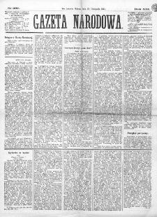 Gazeta Narodowa. R. 13 (1874), nr 267 (21 listopada)