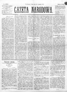 Gazeta Narodowa. R. 13 (1874), nr 270 (25 listopada)
