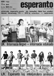 Esperanto : revuo internacia : oficiala organo de Universala Esperanto Asocio. Jaro 71, n. 869 (1978)
