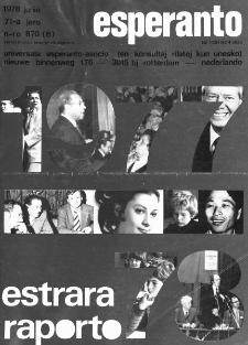 Esperanto : revuo internacia : oficiala organo de Universala Esperanto Asocio. Jaro 71, n. 870 (1978)