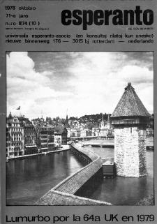 Esperanto : revuo internacia : oficiala organo de Universala Esperanto Asocio. Jaro 71, n. 874 (1978)
