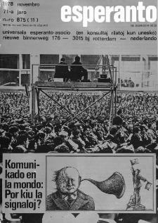 Esperanto : revuo internacia : oficiala organo de Universala Esperanto Asocio. Jaro 71, n. 875 (1978)