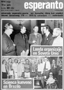 Esperanto : revuo internacia : oficiala organo de Universala Esperanto Asocio. Jaro 72, n. 881 (1979)