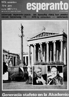 Esperanto : revuo internacia : oficiala organo de Universala Esperanto Asocio. Jaro 72, n. 887 (1979)