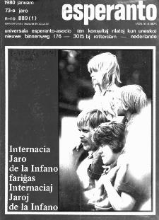 Esperanto : revuo internacia : oficiala organo de Universala Esperanto Asocio. Jaro 73, n. 889 (1980)