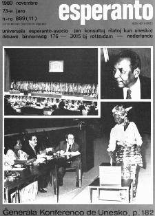 Esperanto : revuo internacia : oficiala organo de Universala Esperanto Asocio. Jaro 73, n. 899 (1980)