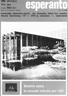 Esperanto : revuo internacia : oficiala organo de Universala Esperanto Asocio. Jaro 73, n. 900 (1980)