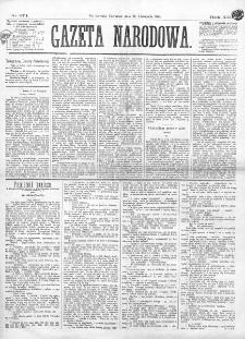 Gazeta Narodowa. R. 13 (1874), nr 271 (26 listopada)