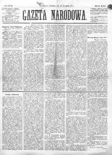 Gazeta Narodowa. R. 13 (1874), nr 274 (29 listopada)