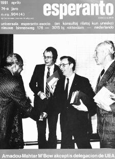 Esperanto : revuo internacia : oficiala organo de Universala Esperanto Asocio. Jaro 74, n. 904 (1981)