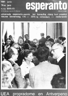 Esperanto : revuo internacia : oficiala organo de Universala Esperanto Asocio. Jaro 74, n. 906 (1981)