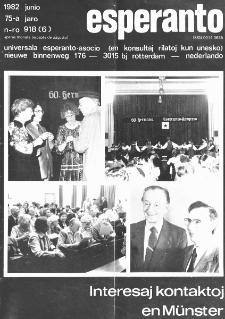 Esperanto : revuo internacia : oficiala organo de Universala Esperanto Asocio. Jaro 75, n. 918 (1982)