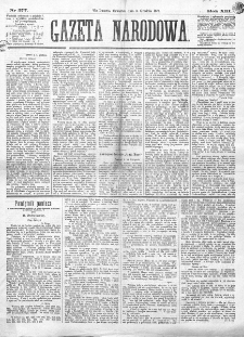 Gazeta Narodowa. R. 13 (1874), nr 277 (3 grudnia)