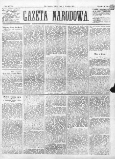 Gazeta Narodowa. R. 13 (1874), nr 279 (5 grudnia)