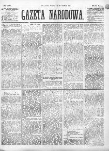 Gazeta Narodowa. R. 13 (1874), nr 284 (12 grudnia)
