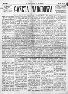 Gazeta Narodowa. R. 13 (1874), nr 285 (13 grudnia)
