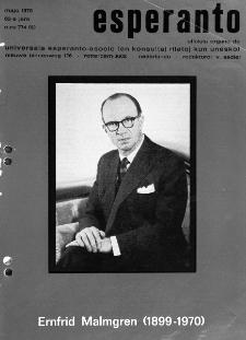 Esperanto : revuo internacia : oficiala organo de Universala Esperanto Asocio. Jaro 63, n. 774 (1970)