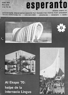 Esperanto : revuo internacia : oficiala organo de Universala Esperanto Asocio. Jaro 63, n. 775 (1970)