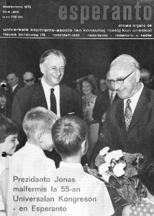 Esperanto : revuo internacia : oficiala organo de Universala Esperanto Asocio. Jaro 63, n. 778 (1970)